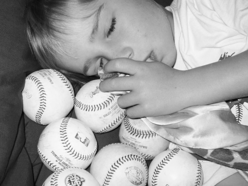 Sleeping with Baseballs